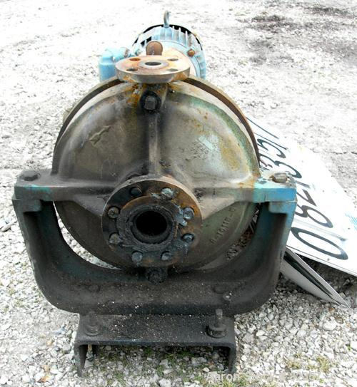"USED: Dean centrifugal pump, model R434, size 1x2x11-1/2, 316 stainless steel. 2"" inlet, 1"" outlet. Approximate capacity 30 ..."