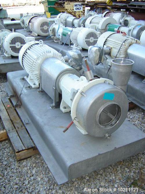Used-75 HP Discflo Stainless Steel Pump, Model 604-14