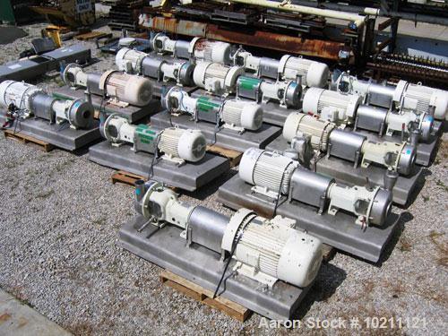 Used-75 HP Discflo Stainless Steel Pump, Model 604-14