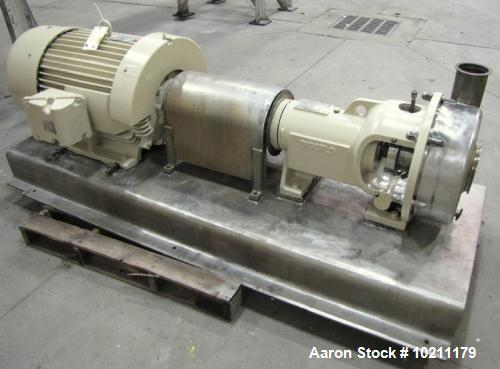 Used- Discflo Stainless Centrifugal Pump, Model 604-14