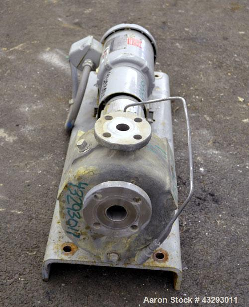 Used- Stainless Steel Durco Mark III Unitized Self-Priming Centrifugal Pump