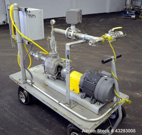 """Used- Durco Mark III Unitized Self-Priming Centrifugal Pump, Size 1J1.5X1US-6/60, 316 Stainless Steel. 1-1/2"""" Inlet, 1"""" outl..."""
