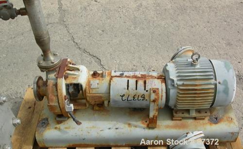 """Used- Durco Mark III Centrifugal Pump, size 1K1.5X1-62/57RV, 316 stainless steel. 1-1/2"""" inlet, 1"""" outlet. Rated approximate..."""