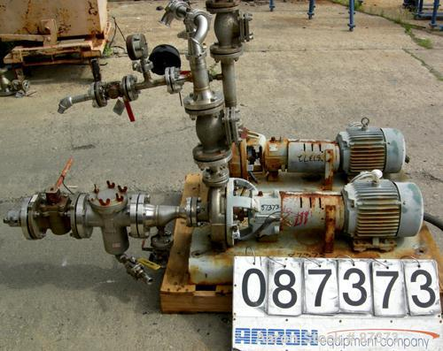 "Used- Durco Mark III Centrifugal Pump, size 1K1.5X1-82/55RV, 316 stainless steel. 1-1/2"" inlet, 1"" outlet. Rated approximate..."