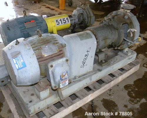 """Used- Durco Mark III Centrifugal Pump, Size 2K2X1-10A/94, 316 Stainless Steel. 2"""" Inlet, 1"""" outlet. Rated approximately 20 g..."""