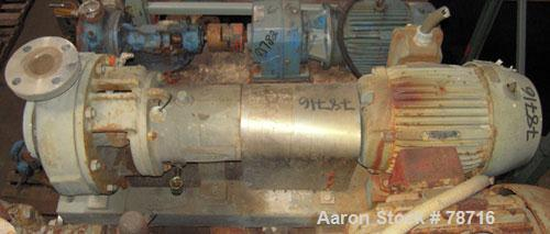 """Used- Durco Mark III Centrifugal Pump, Size 2K3X2-10A/97, 316 Stainless Steel. 3"""" inlet, 2"""" outlet. Rated approximately 500 ..."""