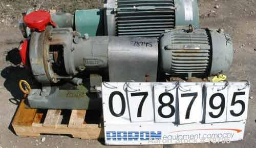 "Used- Durco Mark III Centrifugal Pump, 316 Stainless Steel, Size 2K3X2-10A/97. 3"" inlet x 2"" outlet. Rated 232 gallons per m..."