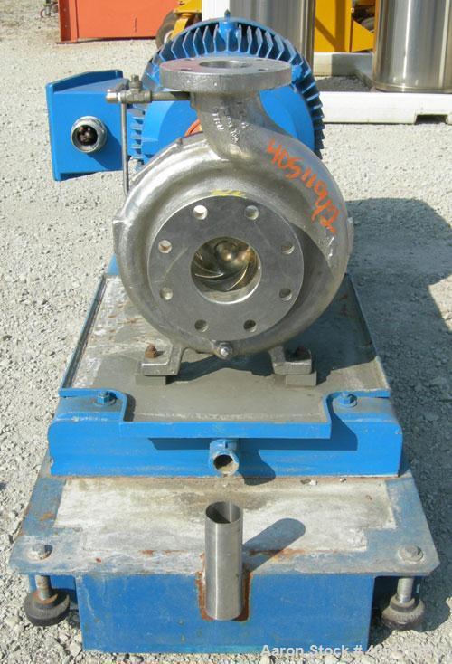 "Used- Durco Ansi/3 Centrifugal Pump, size 2K4X3-10/100OP, 316 stainless steel. 4"" inlet, 3"" outlet. Rated approximately 555 ..."