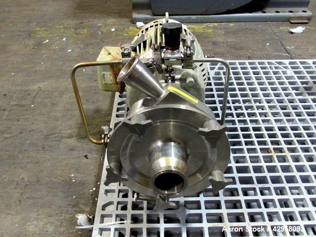 "Used- Fristam Centrifugal Pump, Model FP732-150. Stainless steel construction, 2.5"" x 2"" tri clamp connections, with 7.5 hp,..."