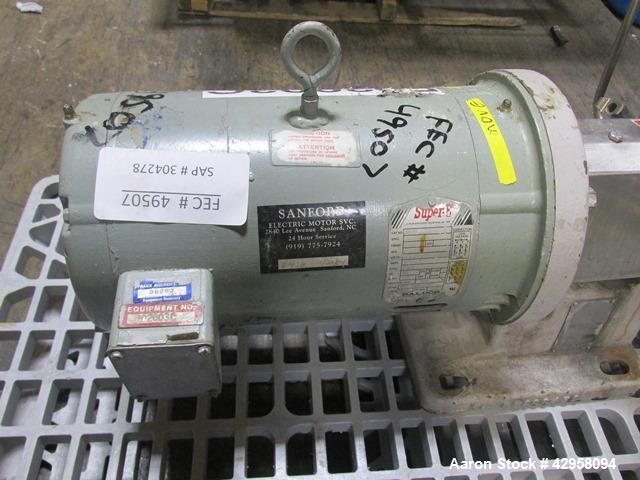 """Used- Fristam Centrifugal Pump, Model FP732-150. Stainless steel construction, 2.5"""" x 2"""" tri clamp connections, with 7.5 hp,..."""