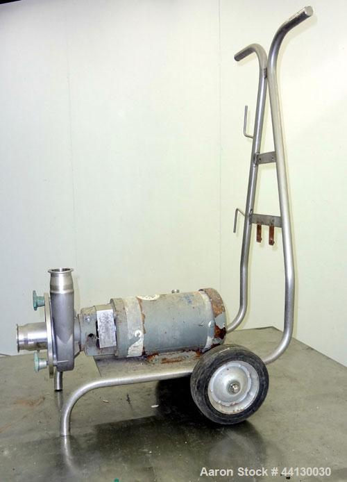 """Used- Fristam Sanitary Centrifugal Pump, Model FPX3521-145, 316 Stainless Steel. 2-1/2"""" Tri-clamp inlet, 2"""" tri-clamp outlet..."""