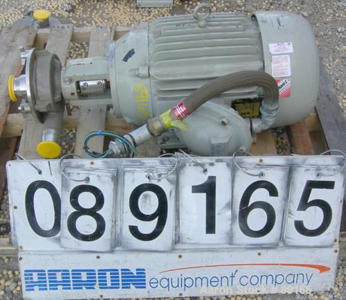 """USED: Fristam centrifugal pump, model FPX3522-145, 317 stainless steel. 2-1/2"""" tri clamp inlet, 2"""" tri clamp outlet. Approxi..."""