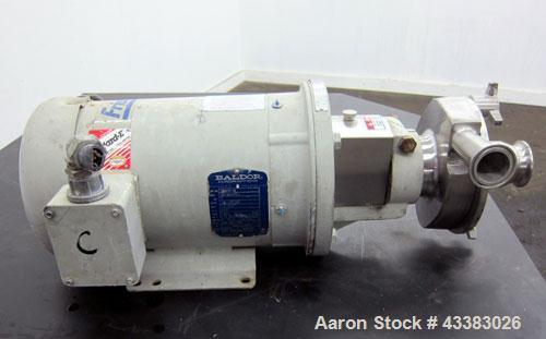 Used- Fristam Centrifugal Pump, Model FPX712-130, 316 Stainless Steel. Approximate maximum capacity 90 gallons per minute at...