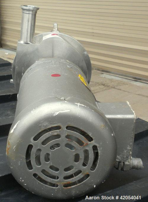 """Used- Fristam Sanitary Centrifugal Pump, model FPX731-145, 316 stainless steel. 2"""" Sanitary inlet, 1 1/2"""" sanitary outlet. A..."""