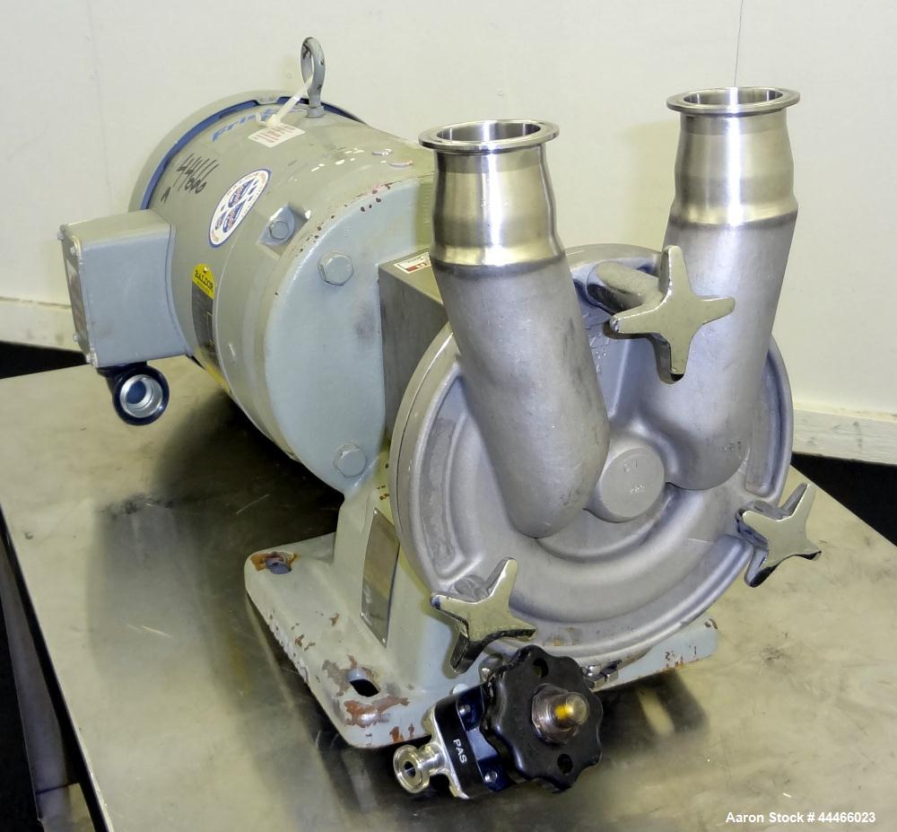 """Used- Fristam Self-Priming Centrifugal Pump, Model FZ17, 316 Stainless Steel.  2"""" Tri-clamp inlet/outlet. Approximate capaci..."""