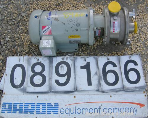 """USED: Fristam liquid ring centrifugal pump, model FZX100BW, 316 stainless steel. 2"""" tri clamp inlet/outlet. Approximate capa..."""