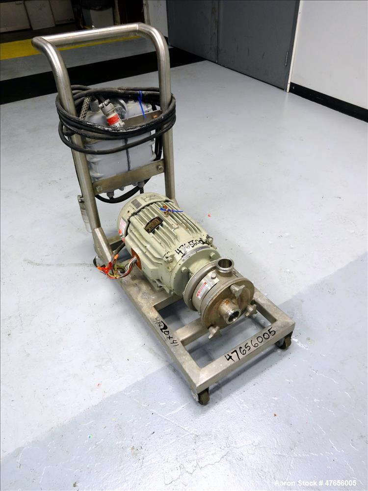 Used- Fristam FZX Series Sanitary Liquid-Ring Pump, Model FZX150, 316 Stainless Steel. Approximate capacity 50 gallons per m...