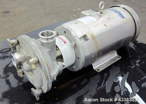 Used- Fristam Sanitary Liquid Ring Centrifugal Pump, Model FZX2200, 316 Stainless Steel. Approximate maximum capacity 100 ga...