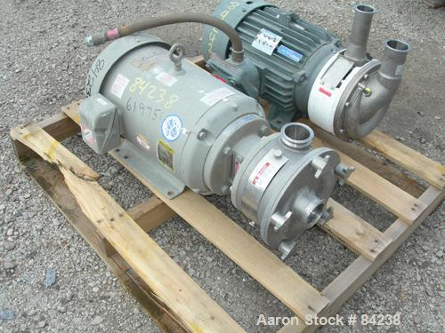 """Used- Fristam Sanitary Liquid Ring Centrifugal Pump, Model FZX250, 316 Stainless Steel. 2-1/2"""" Tri-clamp inlet/outlet. Appro..."""
