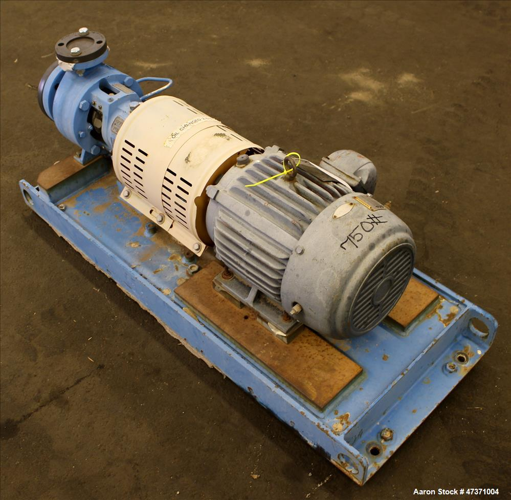 Used- Gould Centrifugal Pump, Model 3196 STX, Size 1.50 X 3-6, 316 Stainless Ste