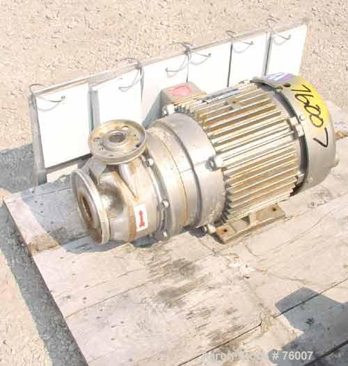 Used- Stainless Steel Goulds Centrifugal Pump,