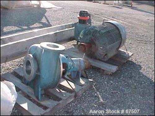 "Used- Goulds Centrifugal Pump, Model 3138, Stainless Steel. 7-1/2"" diameter inlet, 6"" diameter outlet, 17"" diameter impeller..."