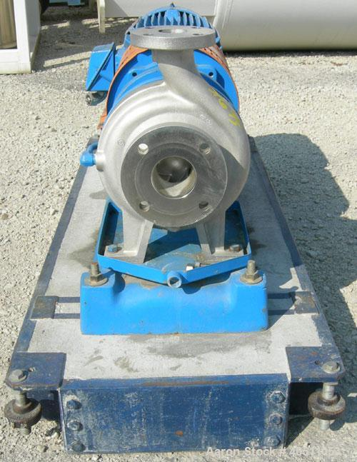 """Used- Goulds Centrifugal Pump, Model 3196 MTX, Size 2x3-8, 316L stainless steel. 3"""" inlet, 2"""" outlet, approximately 7.25"""" di..."""