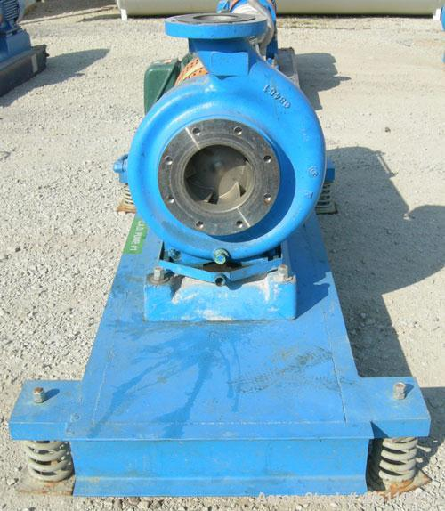 "Used- Goulds Centrifugal Pump, Model 3196 MTX, size 4X6-13, 316 stainless steel. 6"" inlet, 4"" outlet, approximately 11.62"" d..."