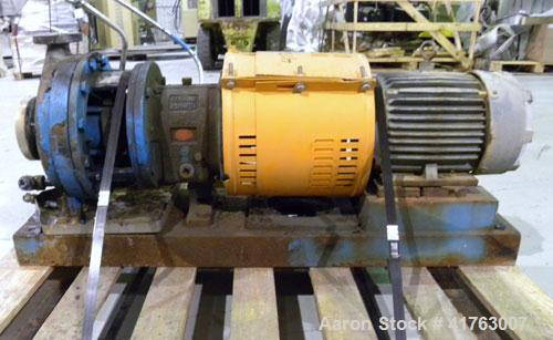 "Used- Goulds Centrifugal Pump, Model 3196 MTX, Size 1x2-10, 316 Stainless Steel. 2"" Inlet, 1"" outlet, approximately 10'' dia..."