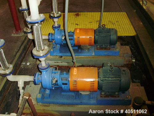 "Used- Goulds Centrifugal Pump, Model 3196 STX, size 1x1.50-6, 316 stainless steel. 1 1/2"" inlet, 1"" outlet, approximately 6""..."