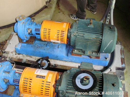 """Used- Goulds Centrifugal Pump, Model 3196 STX, size 1x1.50-8, 316 stainless steel. 1 1/2"""" inlet,1"""" outlet, approximately 8"""" ..."""