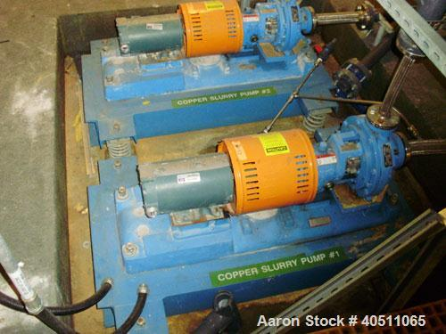 "Used- Goulds Centrifugal Pump, Model 3196 STX, size 1x1.50-8, CD4MCU cast duplex stainless steel. 1 1/2"" inlet, 1"" outlet, a..."