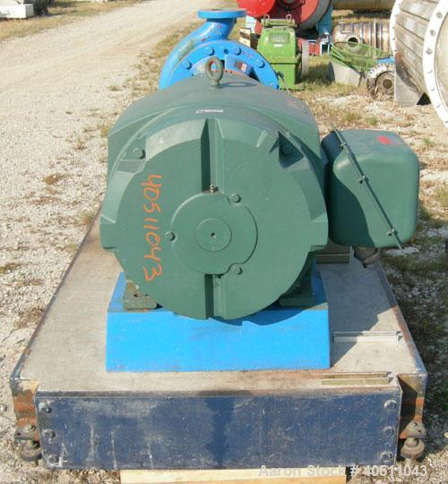 "Used- Goulds Centrifugal Pump, model 3196 XLT-X, size 4x6-17, 316 stainless steel. 6"" inlet, 4"" outlet, approximately 15.625..."