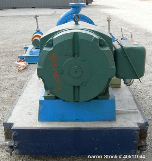 """Used- Goulds Centrifugal Pump, model 3196 XLT-X, size 4x6-17, 316 stainless steel. 6"""" inlet, 4"""" outlet, approximately 15.625..."""