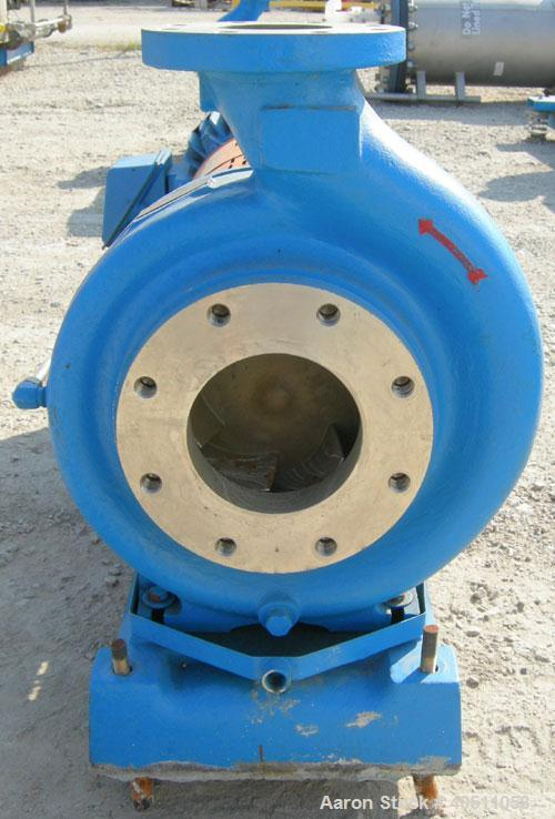 "Used- Goulds Centrifugal Pump, Model 3196, size 4X6-13, 316 stainless steel. 6"" inlet, 4"" outlet, approximately 11.5"" diamet..."