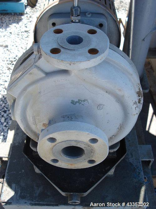 "Used- Goulds Centrifugal Pump, Model 3196, 316 Stainless Steel. 1"" x 1.5"" x 8"" impeller, rated 50 gallons per minute at 220'..."