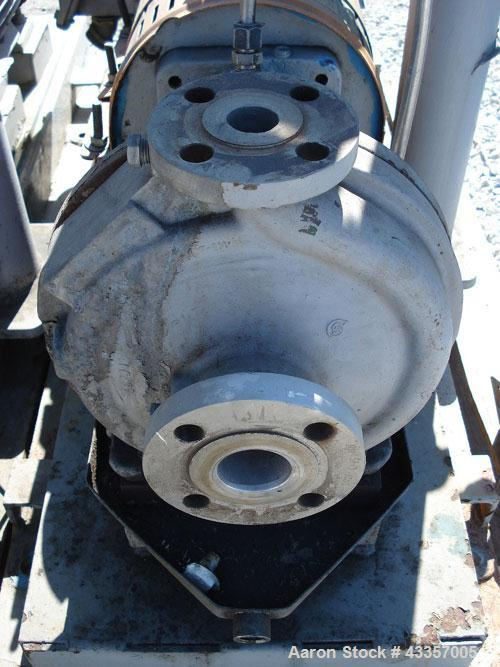 """Used- Goulds Centrifugal Pump, Model 3196, 316 Stainless Steel. 1"""" x 1.5"""" x 8"""" impeller, rated 50 gallons per minute at 220'..."""