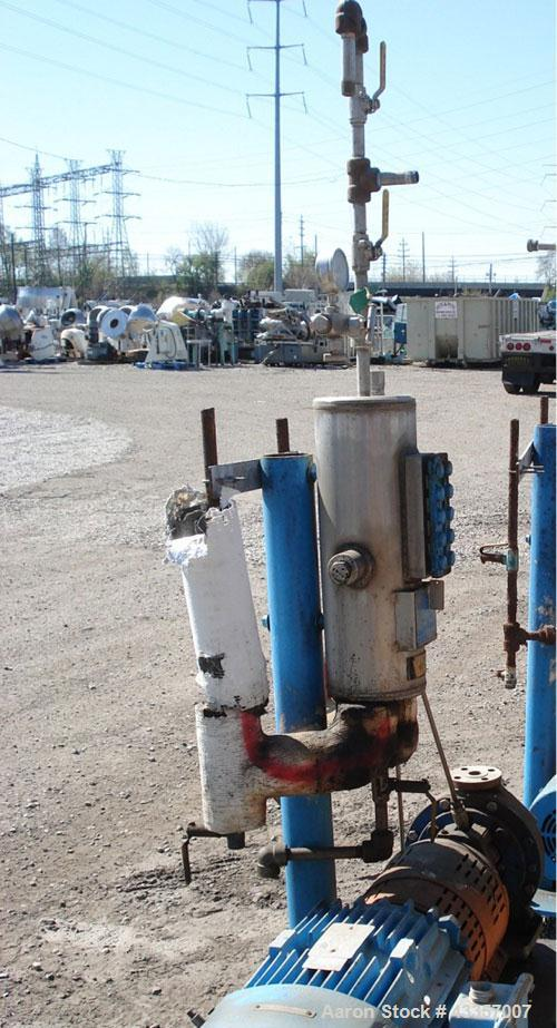 """Used- Goulds Centrifugal Pump, Model 3196, 316 Stainless Steel. 1"""" x 1.5"""" x 8"""" impeller, rated 50 gallons per minute at 48' ..."""