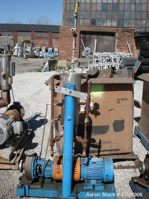 "Used- Goulds Centrifugal Pump, Model 3196, 316 Stainless Steel. 1"" x 1.5"" x 8"" impeller, rated 50 gallons per minute at 275 ..."