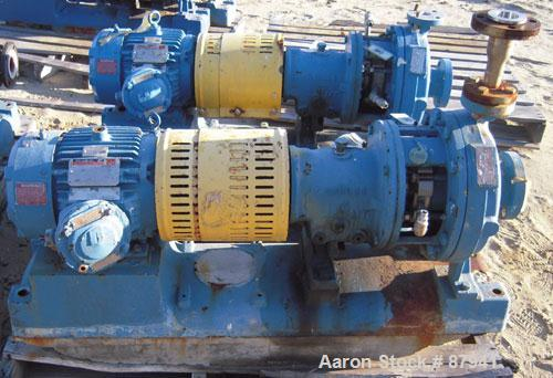 "Used- Goulds Centrifugal Pump, model MT3196, size 1x2x10, 316 stainless steel. 2"" inlet, 1"" outlet. Approximate capacity 50 ..."