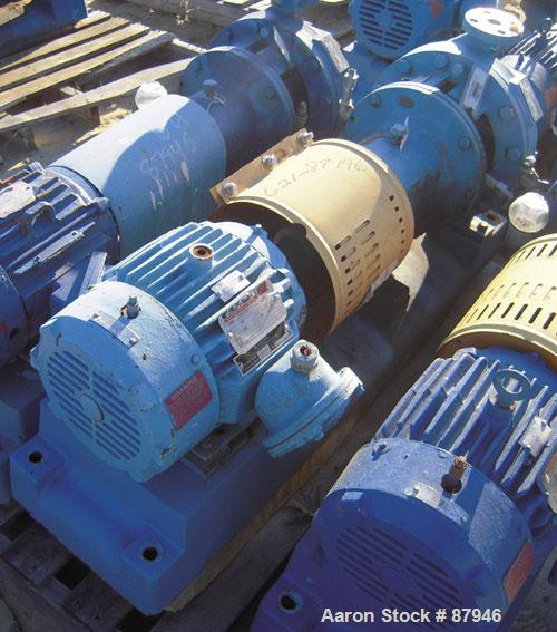 "Used- Goulds Centrifugal Pump, model 3196, size 1x2x10, 316 stainless steel. 2"" inlet, 1"" outlet. Approximate 10"" diameter i..."