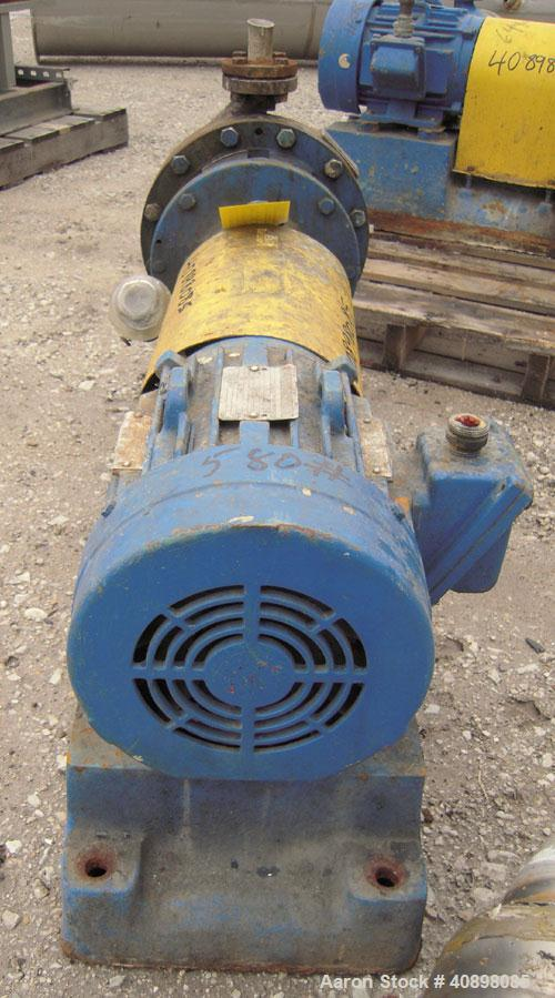 "Used- Goulds Centrifugal Pump, Model 3196MT, Size 1x2-10, 316 stainless steel. 2"" inlet, 1"" outlet, approximately 9"" diamete..."