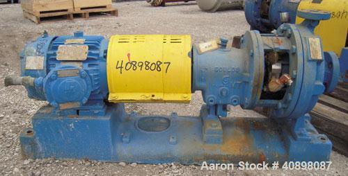"""Used- Goulds Centrifugal Pump, Model 3196MT, Size 1x2-10, 316 stainless steel. 2"""" inlet, 1"""" outlet, approximately 10"""" diamet..."""