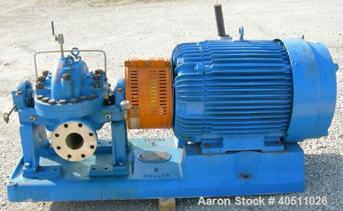 "Used- Goulds Centrifugal Pump, Model 3316M, size 4x6-11HG, 316 stainless steel. 6"" inlet, 4"" outlet, approximately 10.875"" d..."