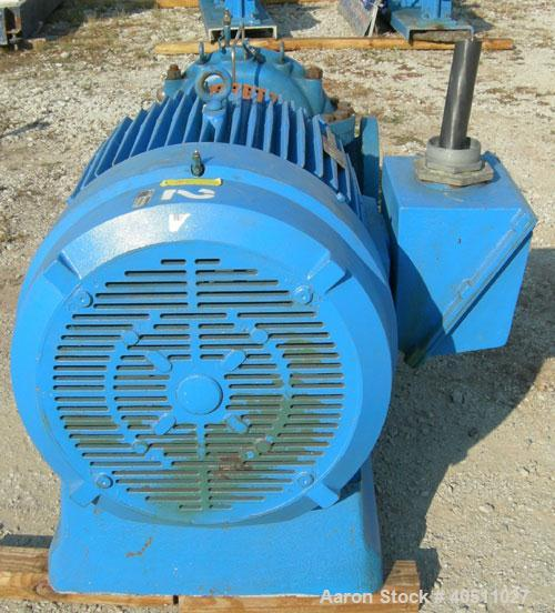 """Used- Goulds Centrifugal Pump, Model 3316M, size 4x6-11HG, 316 stainless steel. 6"""" inlet, 4"""" outlet, approximately 10.875"""" d..."""