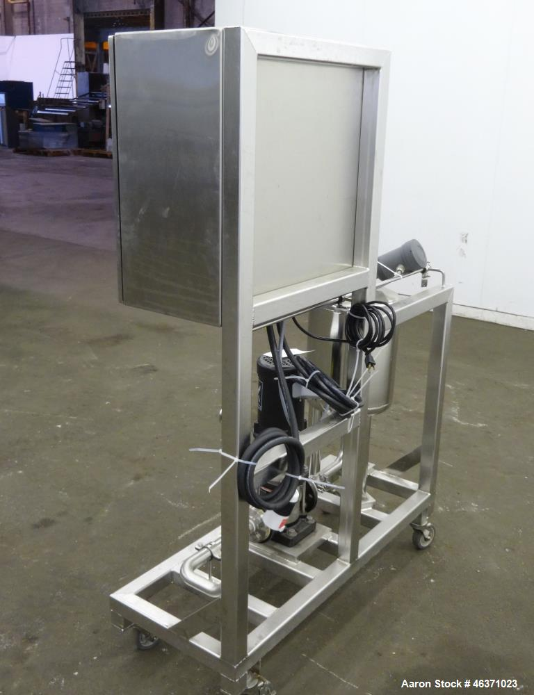 Used- Grundfos CRN1S Vertical Multistage Centrifugal Pump, Type CRN1S-5A-FGJ-G-E-HQQE, 316 Stainless Steel. Rated 4.84 gallo...