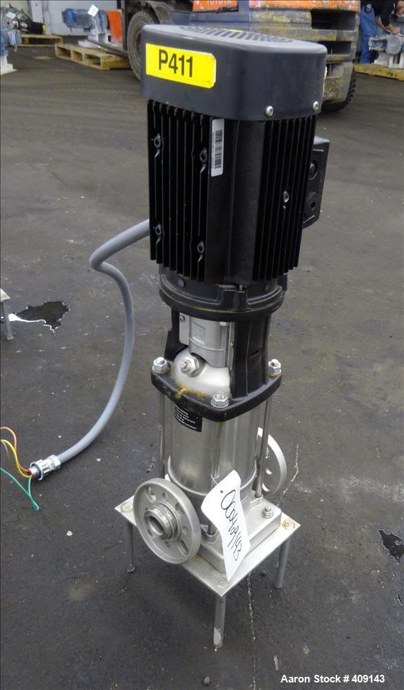 Used- Grundfos CRN3 Vertical Multistage Centrifugal Pump, Type CRN3-11-A-FGJ-GI-E-HQQE, Model A96631933-P11151101, 316 Stain...