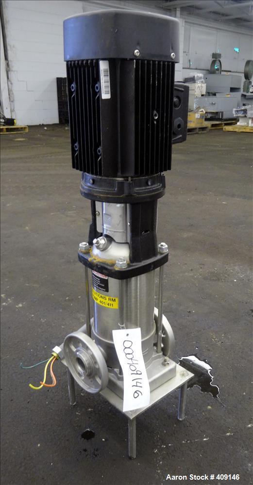 Used- Grundfos CRN3 Vertical Multistage Centrifugal Pump, Type CRN3-11-A-FGJ-GI-E-HQQE, Model A96631933-P11014072, 316 Stain...