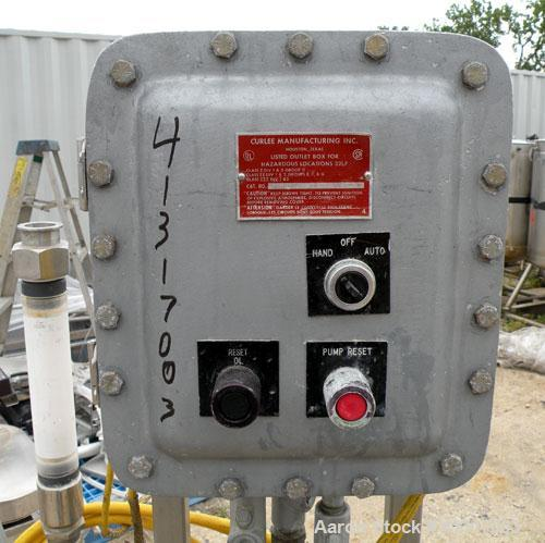 Used- Grundfos Vertical Multistage Centrifugal Pump, Model CRN4-50-U-P-G-AUUE, stainless steel. Rated 22 gallons per minute ...
