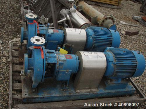 Used Ingersoll Rand Centrifugal Pump Type Hoc2 Size 3x1 5x10 Stainless